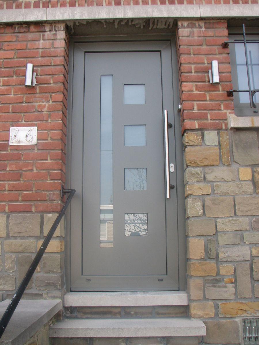 Porte gris quartz