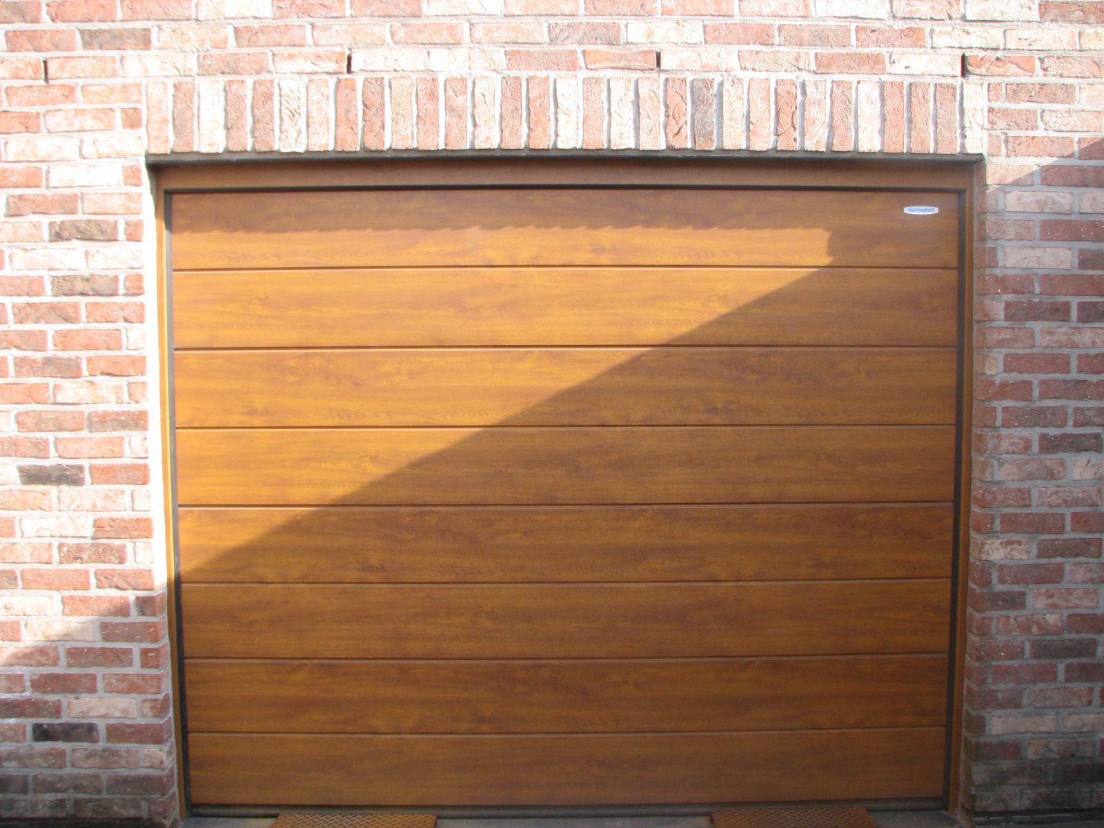 garage chêne doré